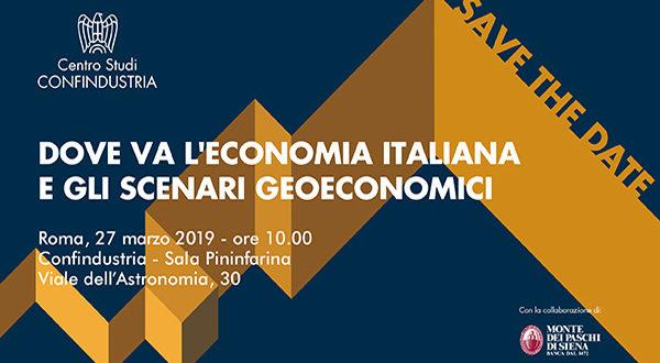 Rapporto di previsione Centro Studi Confindustria – Roma, 27 marzo 2019