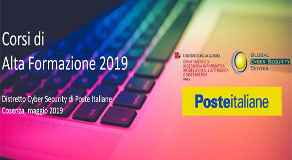 Poste Italiane organizza corsi in Sicurezza delle Informazioni e in Cyber Security. Iscrizioni entro il 30 aprile 2019