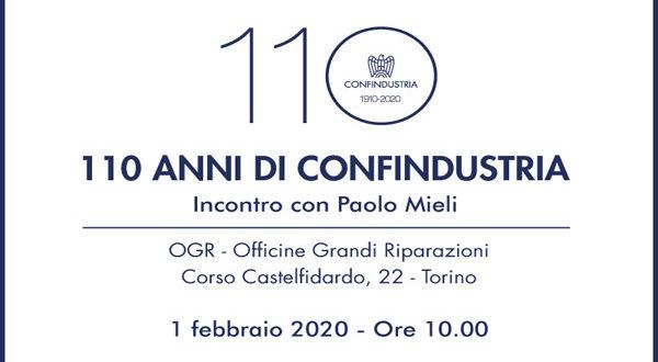110 anni di Confindustria | Visioni di Modernità | Torino, 1 febbraio 2020