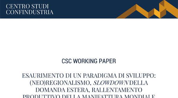 Esaurimento di un paradigma di sviluppo: l'analisi del Centro Studi Confindustria