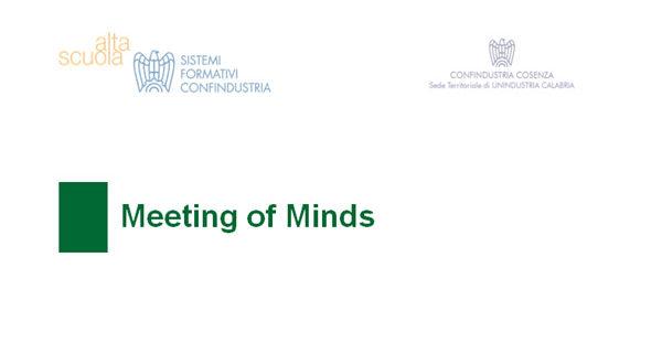 """""""Meeting of Minds"""", corso di formazione per giovani imprenditori in Confindustria Cosenza"""
