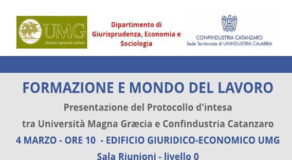 Presentazione protocollo di intesa tra Confindustria Catanzaro e Università Magna Graecia