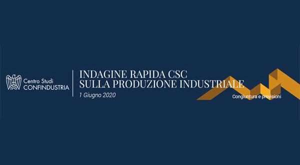 Indagine Rapida Centro Studi Confindustria: produzione industriale italiana diminuita in maggio del 33,8% rispetto a un anno prima