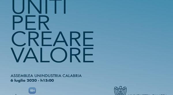 Assemblea privata Unindustria Calabria, lunedì 6 luglio 2020 ore 15