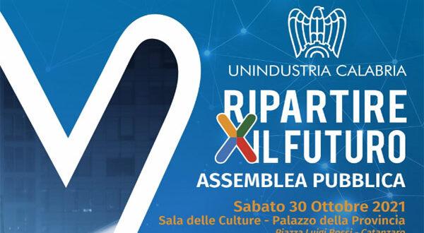 Invito Assemblea Pubblica Unindustria Calabria – 30 ottobre 2021